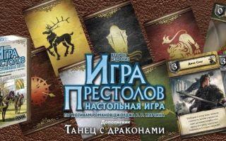 Настольная игра Игра престолов/Game of Thrones: правила, обзор, особенности, дополнения