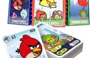 Настольная карточная игра Энгри Бердс/Angry Birds: птички, свинки и рогатка