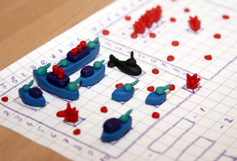 морской бой с минами