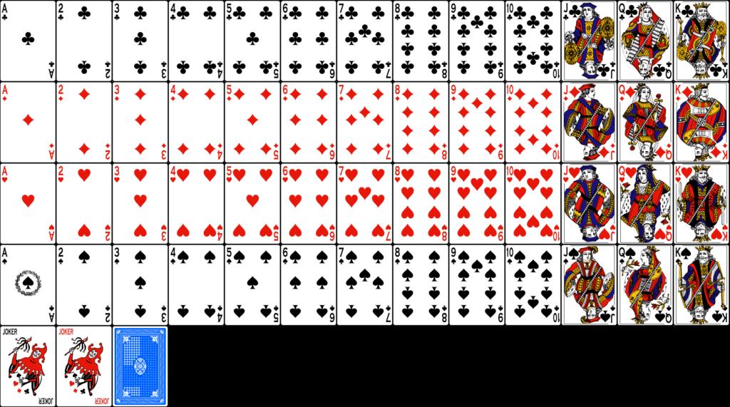 Для покера используют 52 штуки карт