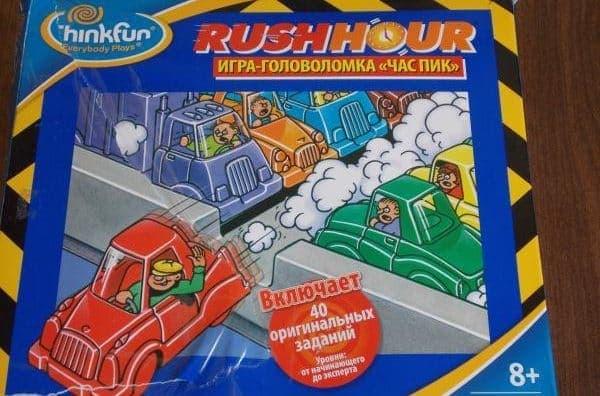 Настольная игра-головоломка Час пик/Rush Hour или Парковка: рулите машинками всласть