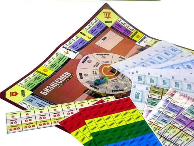 игровой коплект для игры бизнесмен