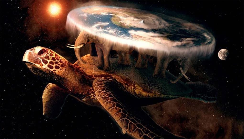 игра плоский мир , на спине у черепахи три слона