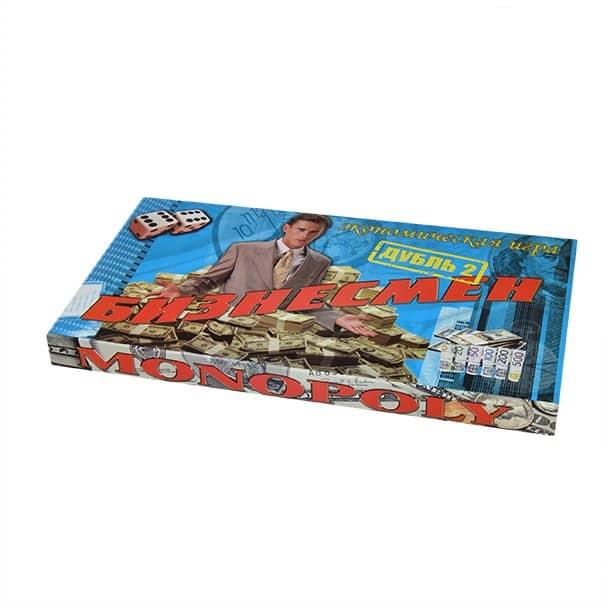 коробка с игрой бизнесмен