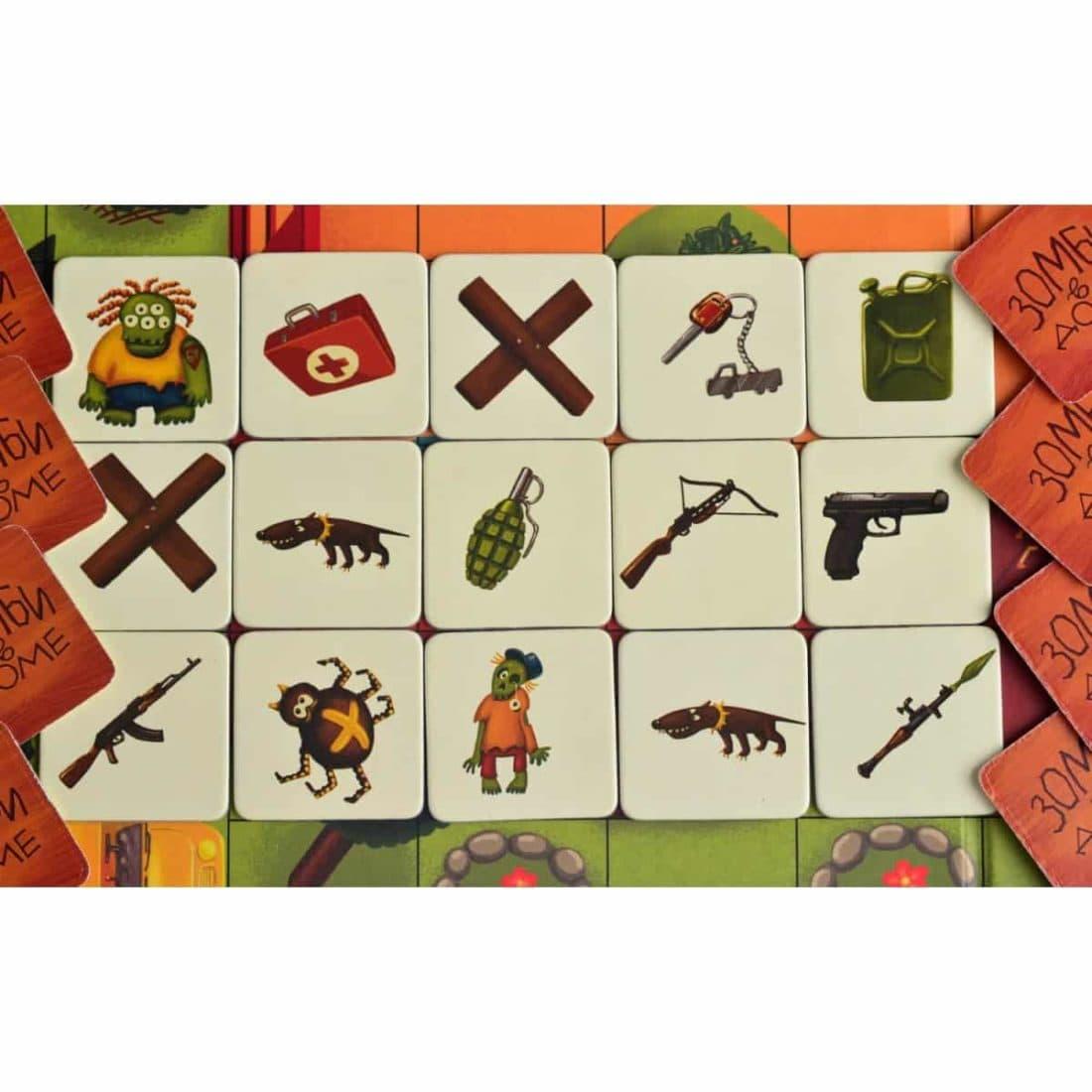 игровые карточки игры зомби в доме