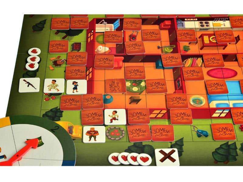 игровое поле игры зомби в доме.