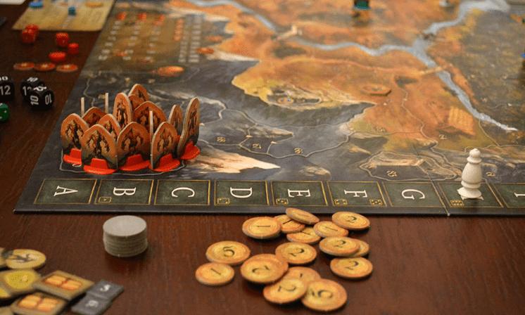 игровое поле и фишки игры андор