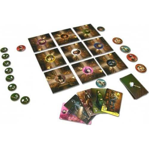 игровая карта с героями и фишками игры мистер ддек