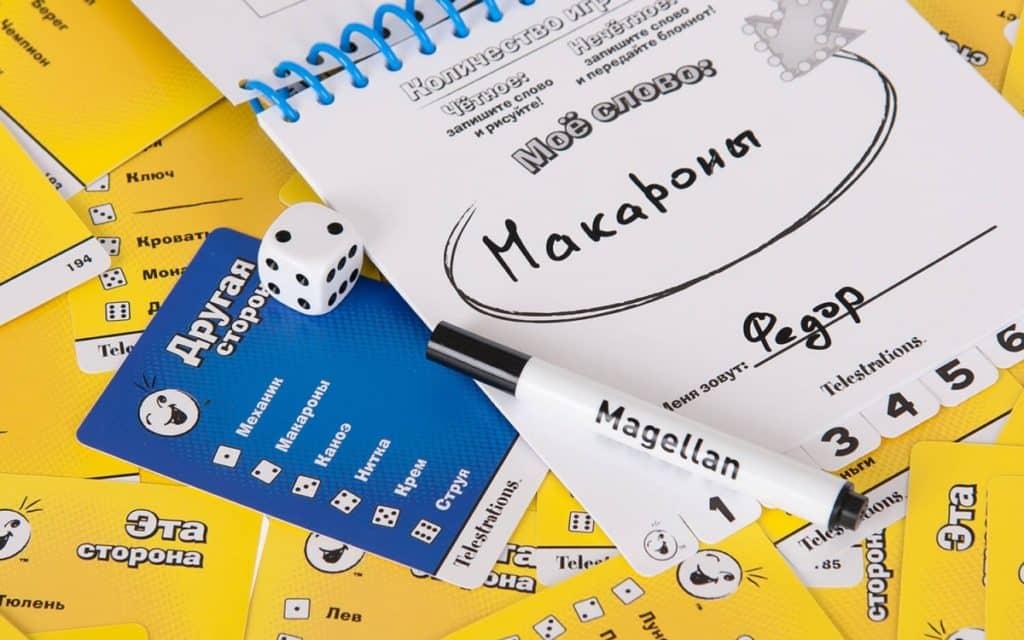 блокнот с угаданны словом игры испорченный телефон