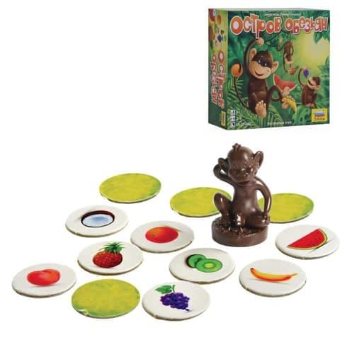 обезьянка с карточками-фруктами