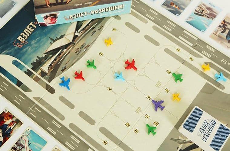 игрвое поле с фишками-самолетами